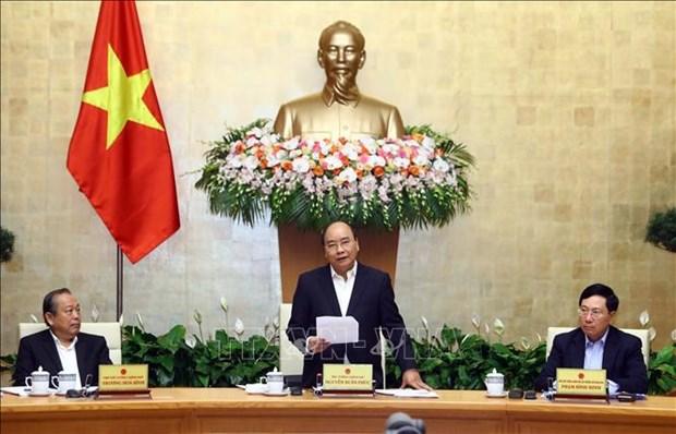 Le PM Nguyen Xuan Phuc preside la reunion du gouvernement de novembre hinh anh 1