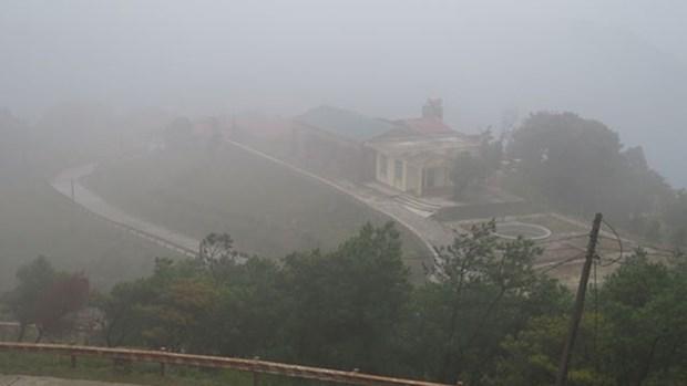 Vague de froid intense, temperature de 2°C enregistree au Mont Mau Son hinh anh 1