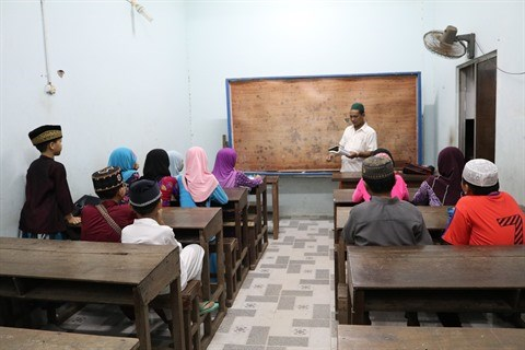 An Giang: Cham, cours de langue a la mosquee hinh anh 1