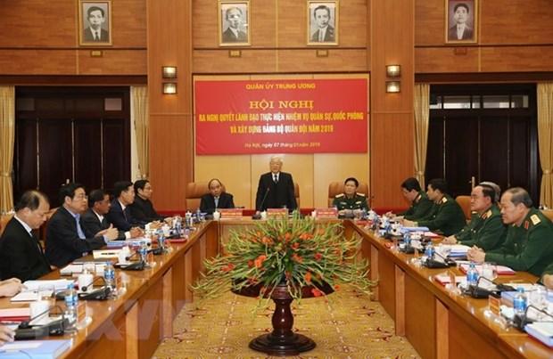 La Commission militaire centrale definit les taches pour 2019 hinh anh 1