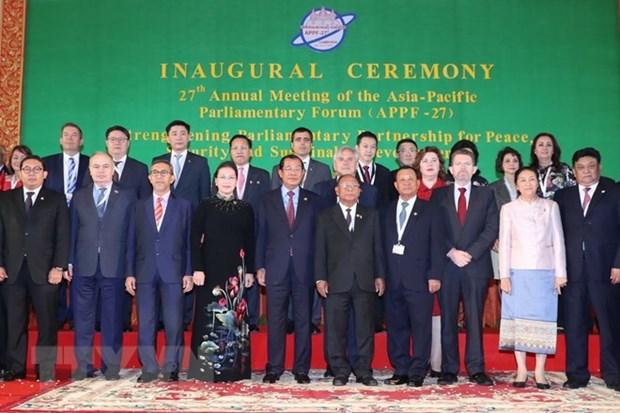 Ouverture de la 27e reunion annuelle du Forum parlementaire Asie-Pacifique hinh anh 1