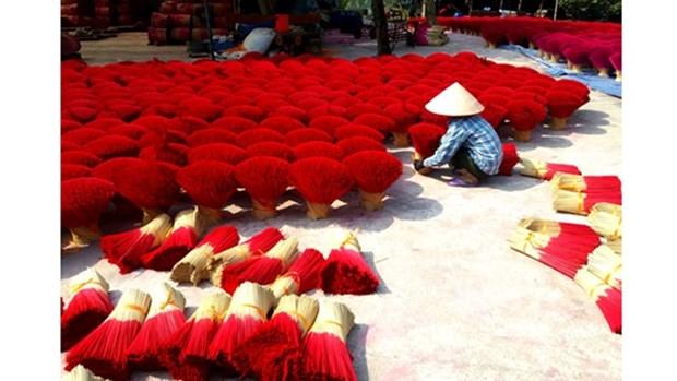 Une video de l'AFP sur le « village de l'encens » de Quang Phu Cau hinh anh 1