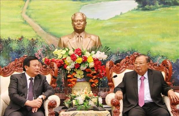 Le Laos demande au Vietnam d'intensifier son soutien aux etudes theoriques et scientifiques hinh anh 1