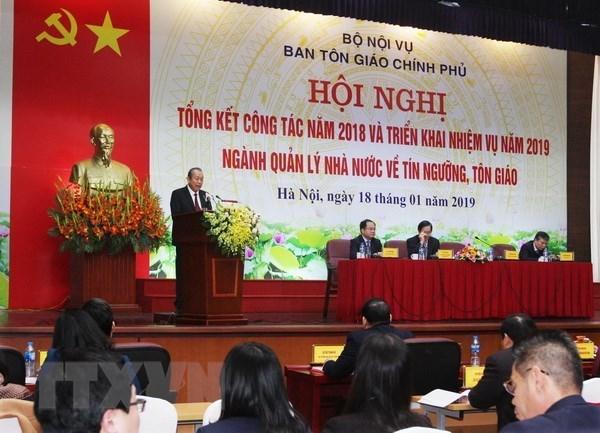 Le vice-PM Truong Hoa Binh dirige les travaux religieux pour 2019 hinh anh 1