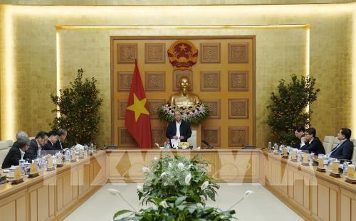 Le PM preside la reunion du sous-comite economique et social en vue du prochain congres du Parti hinh anh 1