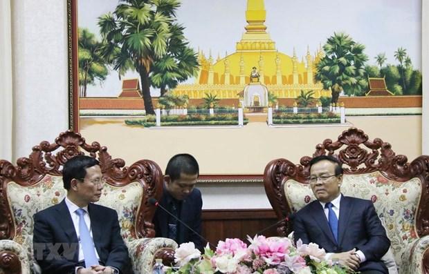 Les responsables laotiens apprecient la cooperation Vietnam-Laos en matiere d'information hinh anh 1