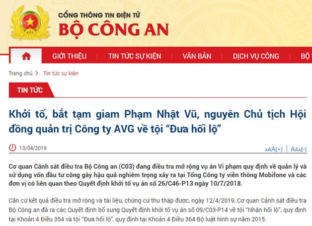 Arrestation de l'ancien PDG de la Compagnie par actions Audio Visual Global (AVG) hinh anh 1