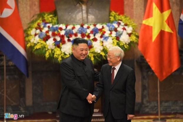 Felicitations au president de la Commission des affaires de l'Etat de la RPDC hinh anh 1