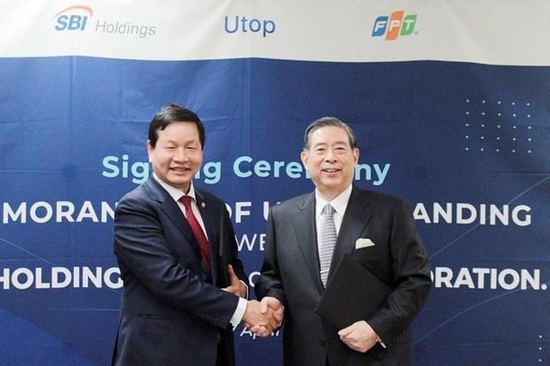 FPT et SBI (Japon) lancent le programme de recompense pour les points de vente au detail hinh anh 1
