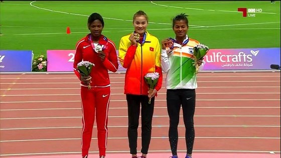 Athletisme: une medaille d'or pour Quach Thi Lan hinh anh 1