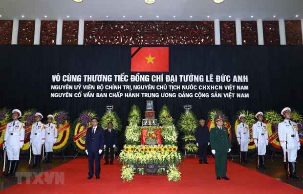 Ceremonie commemorative a la memoire de l'ancien president Le Duc Anh hinh anh 1