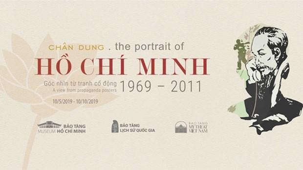 Le portrait de Ho Chi Minh a travers les affiches de propagande hinh anh 1