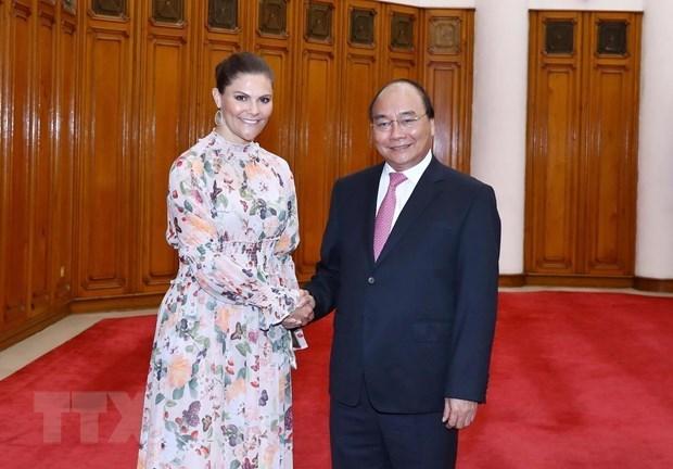 Le PM Nguyen Xuan Phuc recoit la princesse heritiere suedoise hinh anh 1