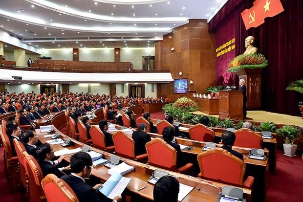 Ouverture du 10e Plenum du Comite central du Parti communiste du Vietnam hinh anh 1