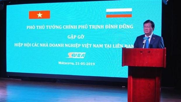 Le vice-PM Trinh Dinh Dung rencontre des entrepreneurs vietnamiens en Russie hinh anh 1