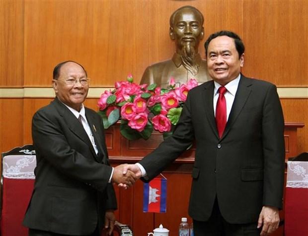 Vietnam et Cambodge consolident les relations d'amitie et de bon voisinage hinh anh 1
