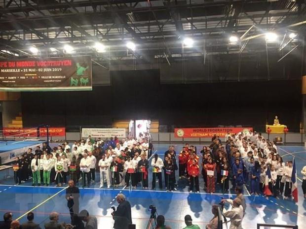 France: Ouverture de la coupe du monde des arts martiaux traditionnels vietnamiens a Marseille hinh anh 1