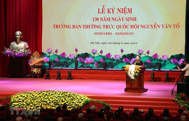 Celebration du 130e anniversaire du president du Comite permanent de l'AN Nguyen Van To hinh anh 1