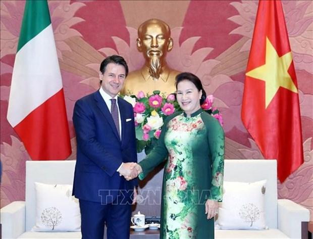 La presidente de l'AN vietnamienne recoit le Premier ministre italien hinh anh 1