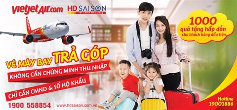 Vietjet permet d'acheter des billets d'avion a credit avec HD SAISON hinh anh 1
