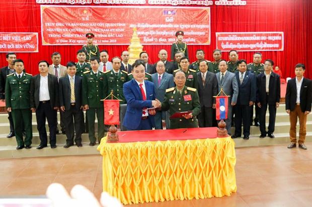 Rapatriement de restes de martyrs vietnamiens retrouves au Laos hinh anh 1