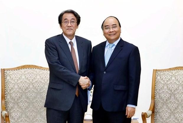 Le Premier ministre Nguyen Xuan Phuc recoit l'ambassadeur du Japon hinh anh 1
