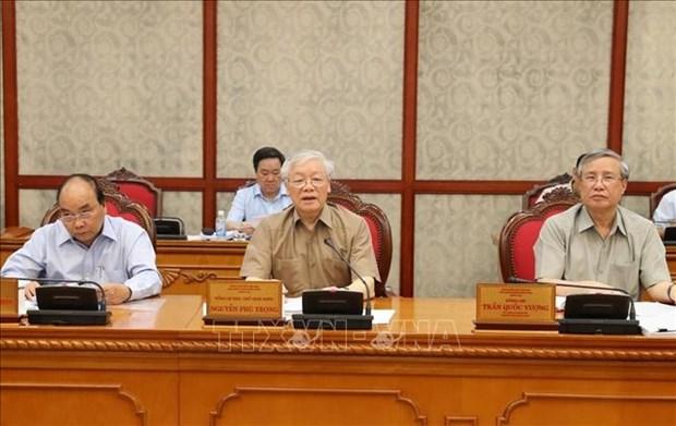 Le BP se reunit sous l'egide du secretaire general et president Nguyen Phu Trong hinh anh 1
