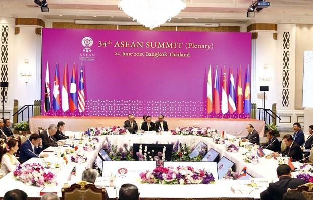 Le Premier ministre Nguyen Xuan Phuc assiste a la seance pleniere du 34e sommet de l'ASEAN hinh anh 1