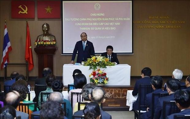 Le PM Nguyen Xuan Phuc rencontre des residents vietnamiens en Thailande hinh anh 1