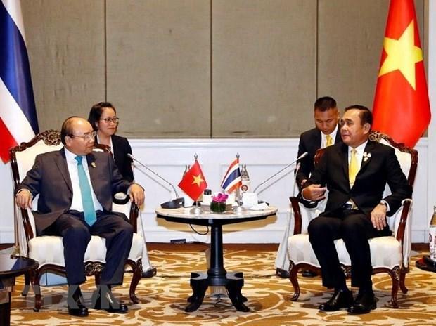 Le PM Nguyen Xuan Phuc rencontre des dirigeants en marge du 34e sommet de l'ASEAN  hinh anh 1