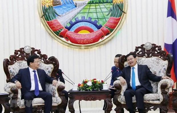 Les relations entre le Vietnam et le Laos se developpent bien hinh anh 1