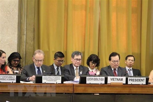 Le Vietnam promeut les discussions sur le desarmement hinh anh 1