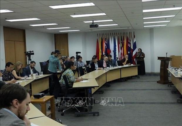 Conference de presse sur le role de l'ASEAN dans l'Indo-Pacifique hinh anh 1