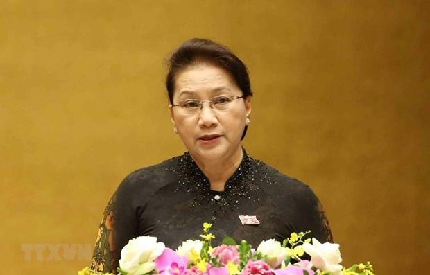La presidente de l'AN Nguyen Thi Kim Ngan part pour la Chine hinh anh 1