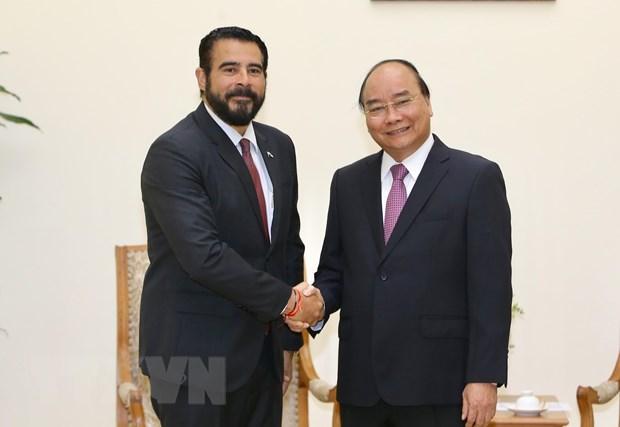 Le Premier ministre Nguyen Xuan Phuc recoit l'ambassadeur du Panama hinh anh 1