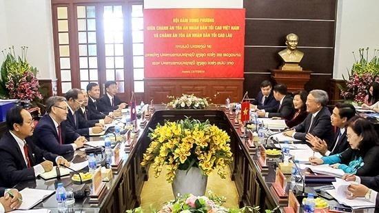 Le Vietnam et le Laos renforcent leurs liens en matiere judiciaire hinh anh 1