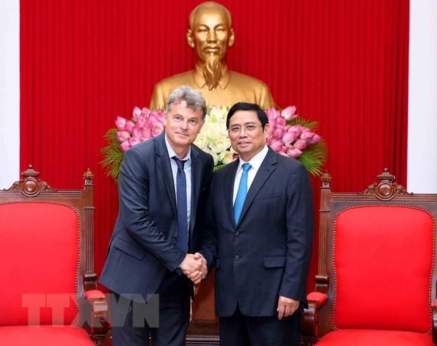 Une delegation du Parti communiste francais en visite de travail au Vietnam hinh anh 1