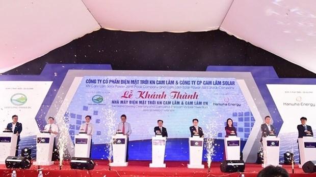 Inauguration de la plus grande centrale solaire de Khanh Hoa hinh anh 1