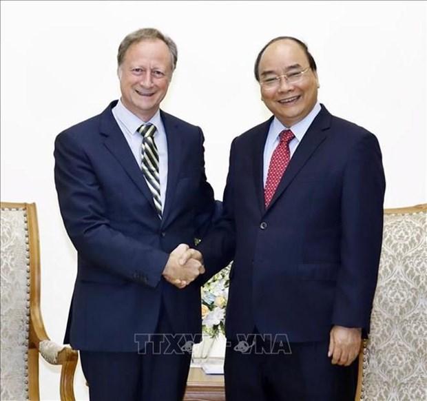 Le Premier ministre recoit le chef de la delegation de l'UE hinh anh 1