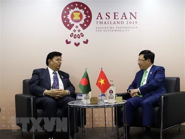 AMM-52 : Le vice-PM et ministre des AE Pham Binh Minh tient des reunions bilaterales hinh anh 2