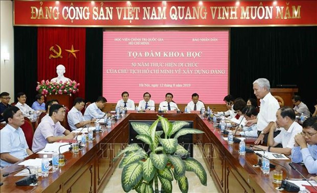 Table-ronde sur les 50 ans d'application du Testament de Ho Chi Minh hinh anh 1