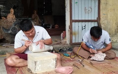 L'art de la sculpture au village de Hien Giang hinh anh 1