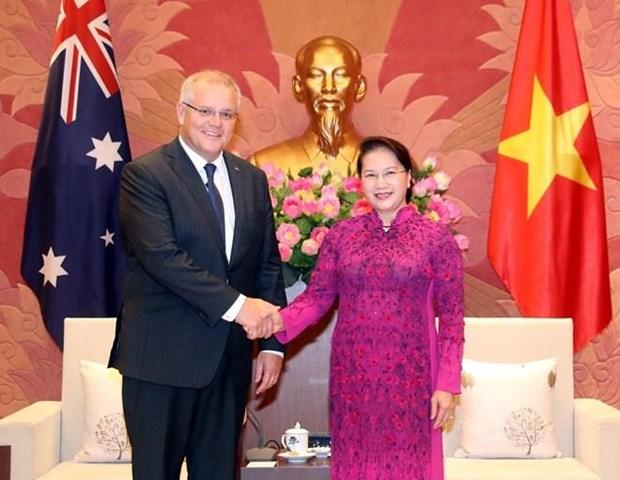 La presidente de l' AN rencontre le Premier ministre australien hinh anh 1