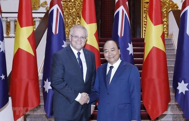 Le PM australien termine sa visite officielle au Vietnam hinh anh 1
