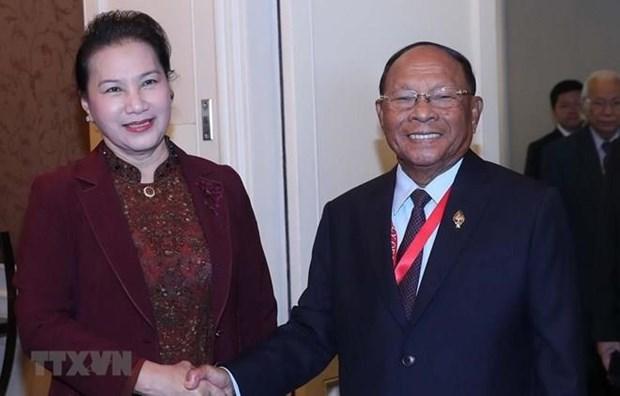 AIPA 40 : Nguyen Thi Kim Ngan recoit le president de l'AN cambodgienne hinh anh 1