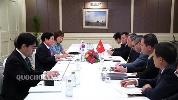 Le Vietnam intensifie la cooperation parlementaire avec la R. de Coree et le Laos hinh anh 1