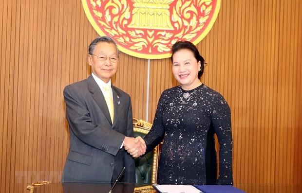 Entretien Nguyen Thi Kim Ngan - Chuan Leekpai hinh anh 1