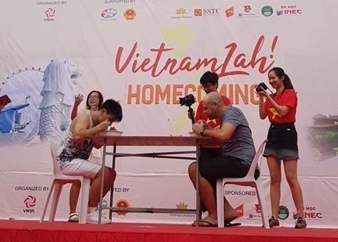 Une foire culturelle introduit la culture vietnamienne a Singapour hinh anh 1