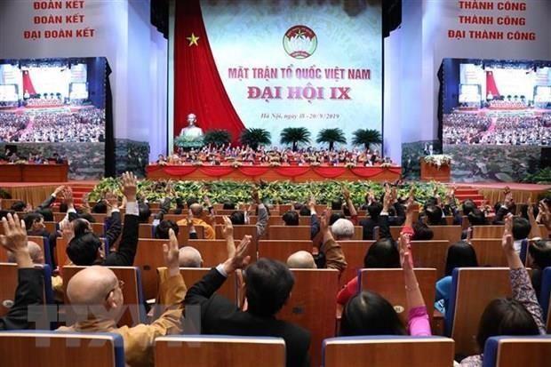 Le 9e Congres national du Front de la Patrie du Vietnam convoque sa premiere seance de travail hinh anh 1