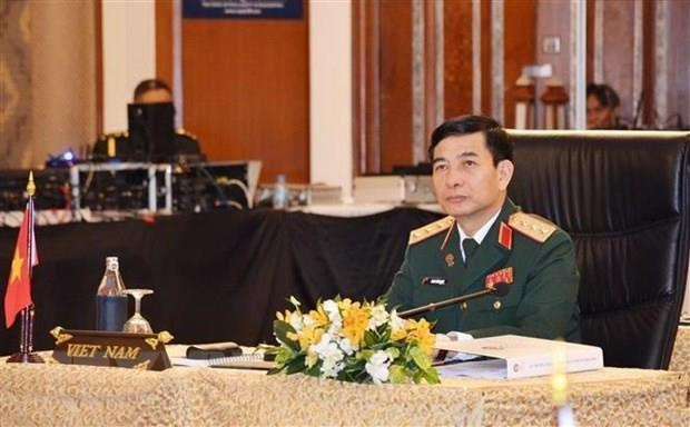 Une haute delegation militaire du Vietnam en visite officielle au Myanmar hinh anh 1